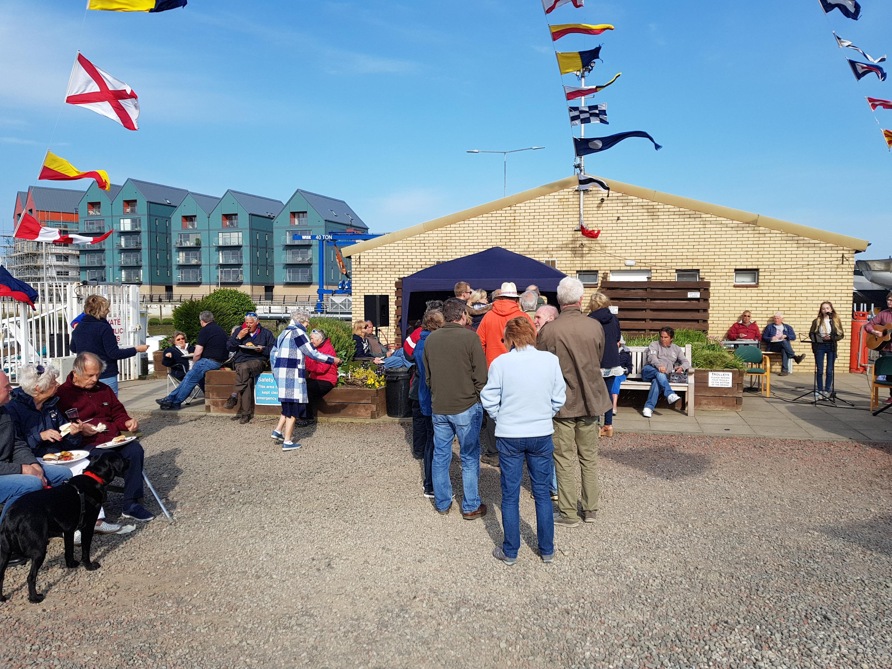 summer event at Amble Marina